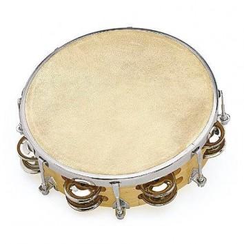 Fuzeau Tambourin Peau Naturelle 20 CM + Cymbalettes
