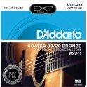 D'Addario Light 12-53 EXP11NY 80/20 Bronze