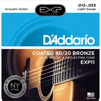 D'Addario Light 12-53 EXP11NY 80/20 Bronze