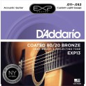 D'Addario Custom Light 11-52 EXP13NY 80/20 Bronze