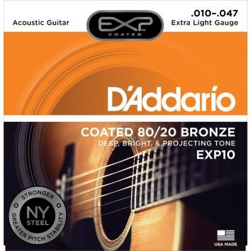 D'Addario Extra Light 10-47 EXP10NY 80/20 Bronze