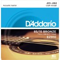 D'Addario Light 11-52 EZ910 85/15 Bronze