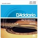 D'Addario Light 11-52 EZ910 85/15 Bronze