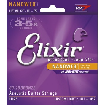 Elixir Folk NANOWEB CUSTOM LIGHT 11-52