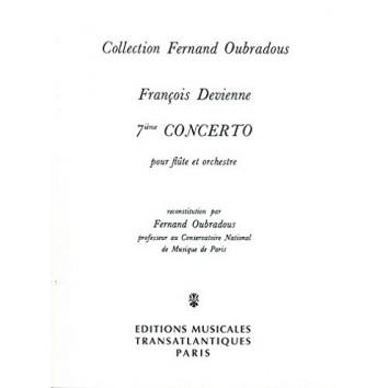 François Devienne : 7ème concerto, partition pour flûte