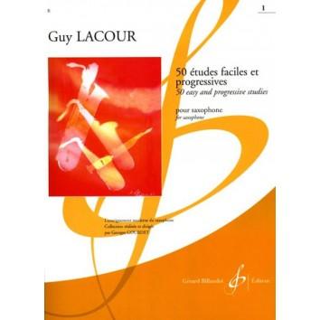 50 études faciles et progressives pour saxophone Vol.1 - Guy Lacour
