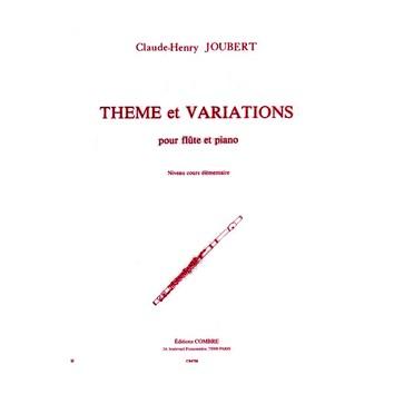 Thème et Variations pour flûte et piano - C.H. Joubert