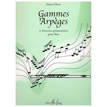 Gammes, Arpèges et Exercices préparatoires pour flûte - Simon Hunt