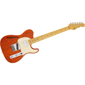 G&L TASCBSH-CLO Tribute Asat Classic Bluesboy Clear Orange